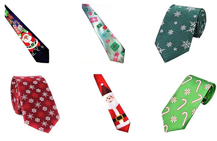 Krawatten zum Thema Weihnachten unter 10 Euro