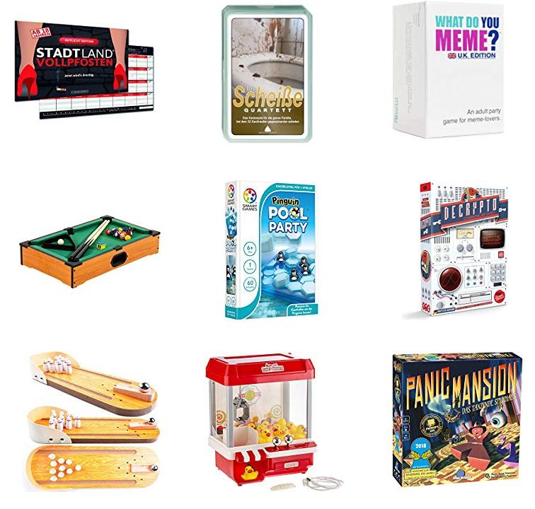 Spiele-Neuheiten bei Amazon - Unterhaltung & Spaß für Silvester & Konsorten