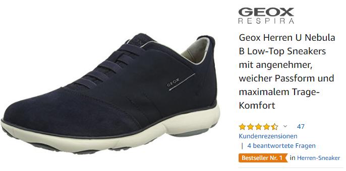 Geox Herren U Nebula B Low-Top Sneakers mit angenehmer, weicher Passform und maximalem Trage-Komfort