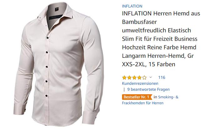 INFLATION Herren-Hemd aus Bambusfaser