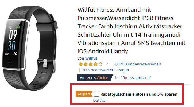 Willful Fitness Armband mit Rabattgutschein