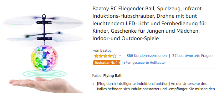 Baztoy RC Fliegender Ball